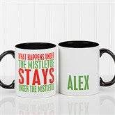 Funny Christmas Quote Personalized Coffee Mug 11oz.- Black - 16450-B
