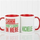 Funny Christmas Quote Personalized Coffee Mug 11 oz.- Red - 16450-R