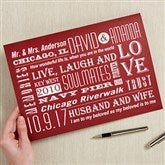 Our Life Together Personalized Oversized Greeting Card - 16452