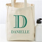 Striped Monogram Personalized Petite Tote Bag - 16454