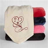Couple In Love Custom Embroidered 50x60 Fleece Blanket - 16456
