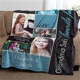 My Favorite Faces Personalized 60x80 Fleece Photo Blanket - 16467-L