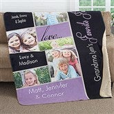 My Favorite Faces Personalized 60x80 Premium Sherpa Blanket - 16468-L
