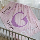 All About Baby Girl Personalized Fleece Blanket - 16469
