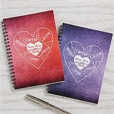 We Love You To Pieces Personalized Mini Notebooks-Set of 2 - 16471