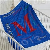 All About Baby Boy Personalized Fleece Blanket - 16485