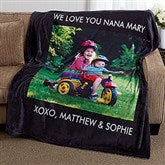 Picture Perfect Personalized 60x80 Fleece Blanket- 1 Photo - 16486-1L
