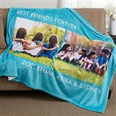 Picture Perfect Personalized 60x80 Fleece Photo Blanket- 2 Photo - 16486-2L