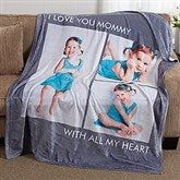 Picture Perfect Personalized 60x80 Fleece Photo Blanket- 3 Photo - 16486-3L