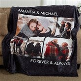 Picture Perfect Personalized 50x60 Fleece Photo Blanket- 5 Photo - 16486-5