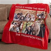 Picture Perfect Personalized 60x80 Fleece Photo Blanket- 6 Photo - 16486-6L