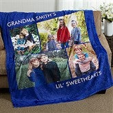 Picture Perfect Personalized 60x80 Fleece Blanket- 4 Photo - 16486-4L