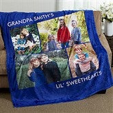 Picture Perfect Personalized 60x80 Fleece Photo Blanket- 4 Photo - 16486-4L