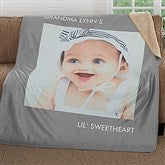 Picture Perfect Personalized Premium 50x60 Sherpa Blanket- 1 Photo - 16487-1