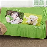 Picture Perfect Personalized Premium Sherpa Blanket- 2 Photo - 16487-2