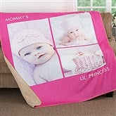 Picture Perfect Personalized Premium 60x80 Sherpa Blanket- 3 Photo - 16487-3L