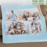 Picture Perfect Personalized Premium 60x80 Sherpa Blanket- 4 Photo - 16487-4L