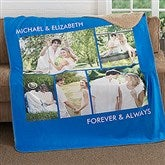 Picture Perfect Personalized Premium 60x80 Sherpa Blanket- 5 Photo - 16487-5L