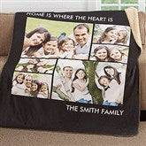 Picture Perfect Personalized Premium 60x80 Sherpa Blanket- 6 Photo - 16487-6L