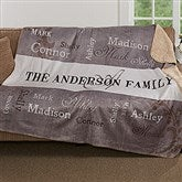 Our Loving Family Personalized Premium Sherpa Blanket - 16489