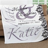 The Wedding Couple Personalized 60x80 Fleece Blanket - 16490-L