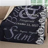 The Wedding Couple Personalized Premium 50x60 Sherpa Blanket - 16491