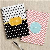 Preppy Chic Personalized Mini Notebooks-Set of 2 - 16495