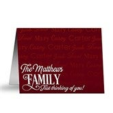 Family Is Love Personalized Note Cards - 16498