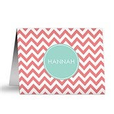 Preppy Chic Personalized Note Cards - 16501
