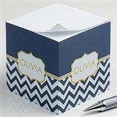 Preppy Chic Personalized Paper Note Cube - 16502
