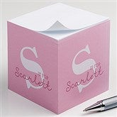 Alphabet Fun Personalized Paper Note Cube - 16503