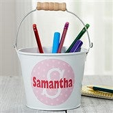 Just Me Personalized Mini Metal Bucket-Initial - 16511