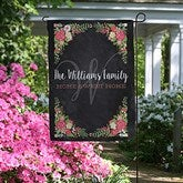Posh Floral Welcome Personalized Garden Flag - 16516