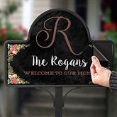 Posh Floral Welcome Personalized Magnetic Garden Sign - 16517-M