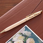 Maple Engraved Pen - 1652-M