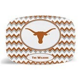 Chevron Collegiate Pride Personalized Tailgate Collection - Platter - 16522D-PL