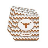 Chevron Collegiate Pride Personalized Tailgate Collection - Coasters - 16522D-C