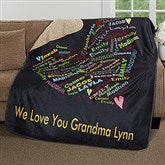 Her Heart Of Love Personalized Premium Sherpa Blanket - 16524