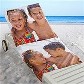 Photo Collage Personalized Beach Towel - 2 Photos - 16537-2