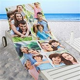 Photo Collage Personalized Beach Towel - 5 Photos - 16537-5
