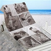 Photo Collage Personalized Beach Towel - 6 Photos - 16537-6