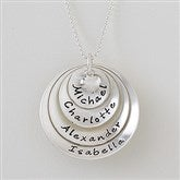 Layered Love Personalized Stackable Rounded Disc Necklace - 4 Disc - 16539D-4