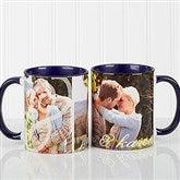 You & I Personalized Photo Coffee Mug 11oz.- Blue - 16547-BL