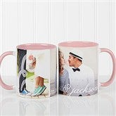 You & I Personalized Photo Coffee Mug 11oz.- Pink - 16547-P