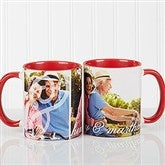 You & I Personalized Photo Coffee Mug 11oz.- Red - 16547-R
