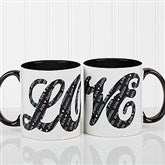 L-O-V-E Sweethearts Personalized Coffee Mug 11oz.- Black - 16548-B