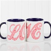 L-O-V-E Sweethearts Personalized Coffee Mug 11oz.- Blue - 16548-BL