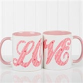 L-O-V-E Sweethearts Personalized Coffee Mug 11oz.- Pink - 16548-P