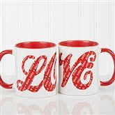 L-O-V-E Sweethearts Personalized Coffee Mug 11oz.- Red - 16548-R
