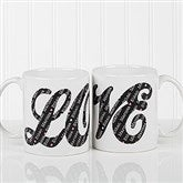 L-O-V-E Sweethearts Personalized Coffee Mug 11 oz.- White - 16548-W